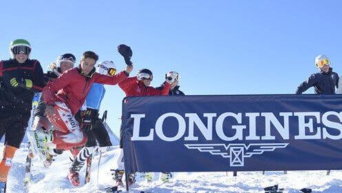 Skisportler und Longines