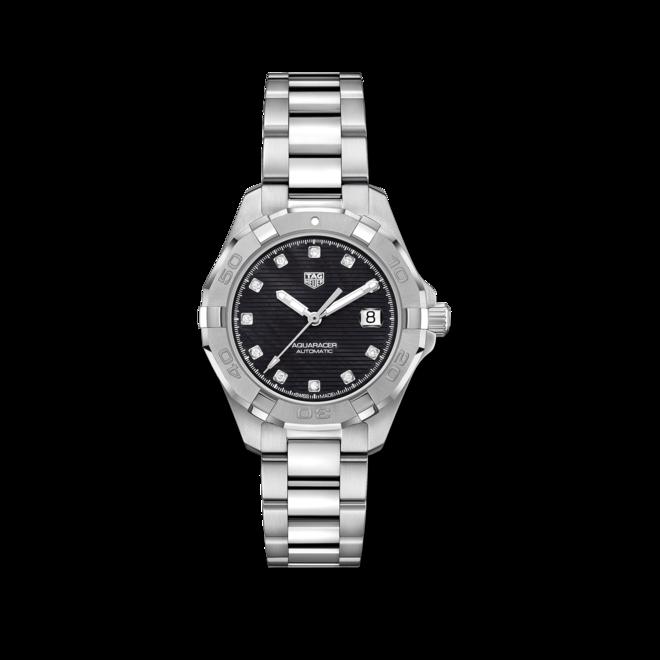 Damenuhr TAG Heuer Aquaracer Automatic 32mm mit Diamanten, schwarzem Zifferblatt und Edelstahlarmband bei Brogle