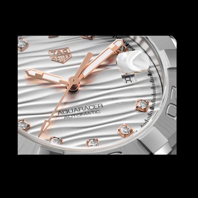 Damenuhr TAG Heuer Aquaracer Automatic 32mm mit Diamanten, grauem Zifferblatt und Edelstahlarmband bei Brogle
