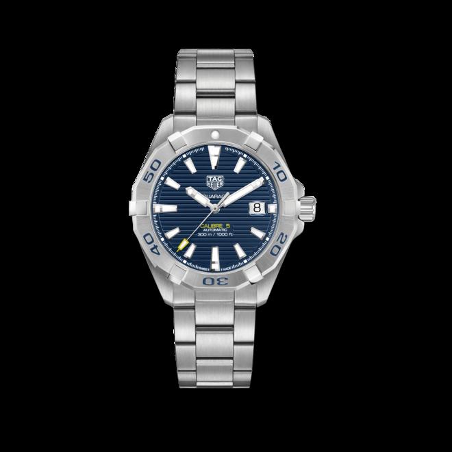 Herrenuhr TAG Heuer Aquaracer Automatic 41mm mit blauem Zifferblatt und Edelstahlarmband bei Brogle