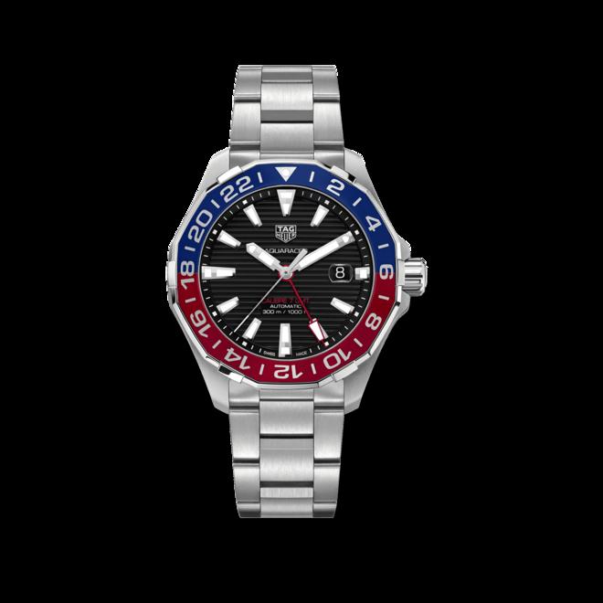 Herrenuhr TAG Heuer Aquaracer Automatic GMT 43mm mit schwarzem Zifferblatt und Edelstahlarmband bei Brogle
