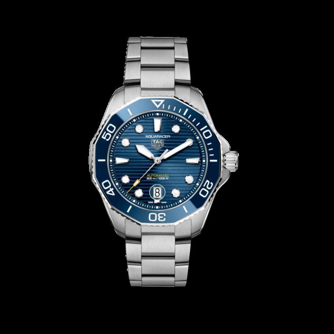 Herrenuhr TAG Heuer Aquaracer Professional 300 mit blauem Zifferblatt und Edelstahlarmband bei Brogle