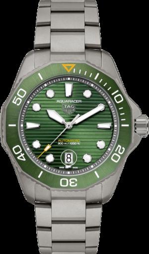 Herrenuhr TAG Heuer Aquaracer Professional 300 mit grünem Zifferblatt und Titanarmband