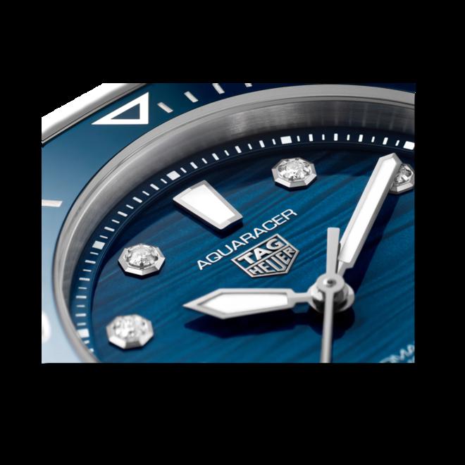 Damenuhr TAG Heuer Aquaracer Professional 300 mit Diamanten, blauem Zifferblatt und Edelstahlarmband bei Brogle