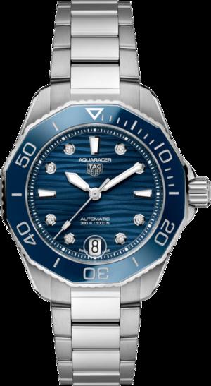 Damenuhr TAG Heuer Aquaracer Professional 300 mit Diamanten, blauem Zifferblatt und Edelstahlarmband