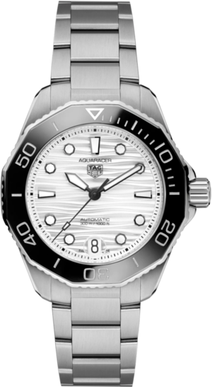 Damenuhr TAG Heuer Aquaracer Professional 300 mit grauem Zifferblatt und Edelstahlarmband