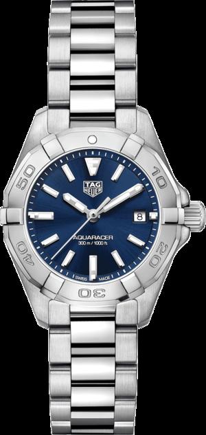 Damenuhr TAG Heuer Aquaracer Quartz 27mm mit blauem Zifferblatt und Edelstahlarmband