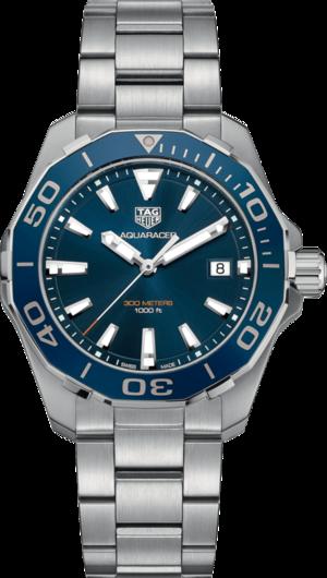 Herrenuhr TAG Heuer Aquaracer Quartz 41mm mit blauem Zifferblatt und Edelstahlarmband