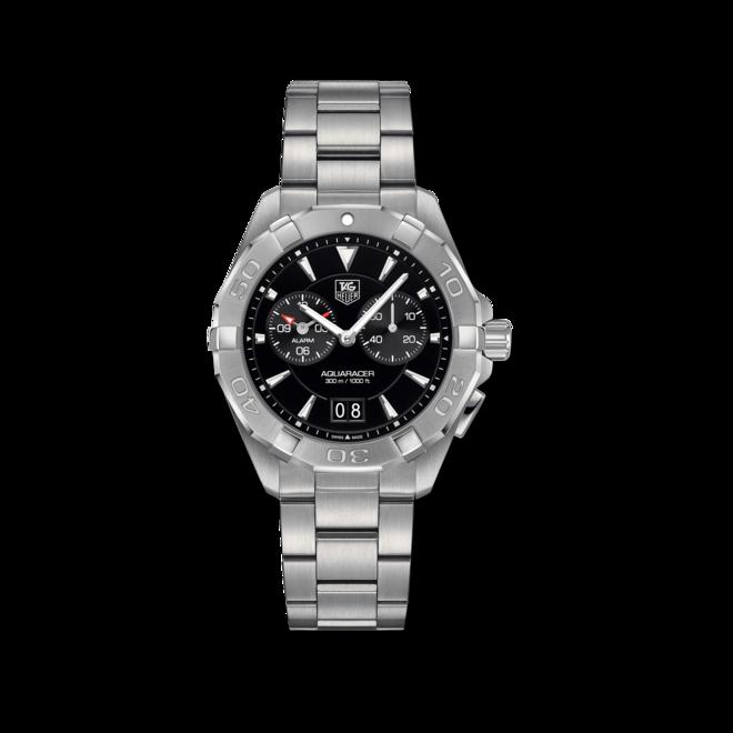Herrenuhr TAG Heuer Aquaracer Quartz Alarm 40,5mm mit schwarzem Zifferblatt und Edelstahlarmband bei Brogle