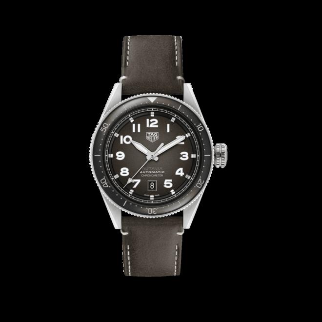 Herrenuhr TAG Heuer Autavia Automatic 42mm mit Kalbsleder-Armband bei Brogle