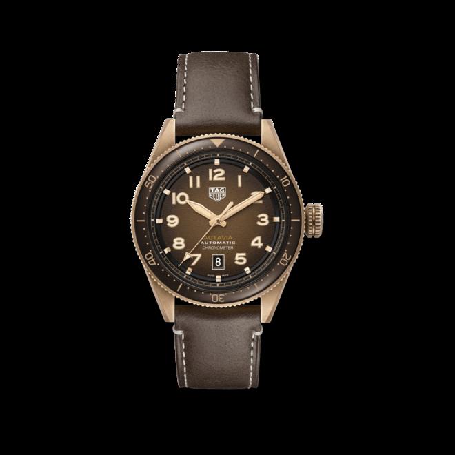Herrenuhr TAG Heuer Autavia Automatic 42mm mit braunem Zifferblatt und Kalbsleder-Armband bei Brogle