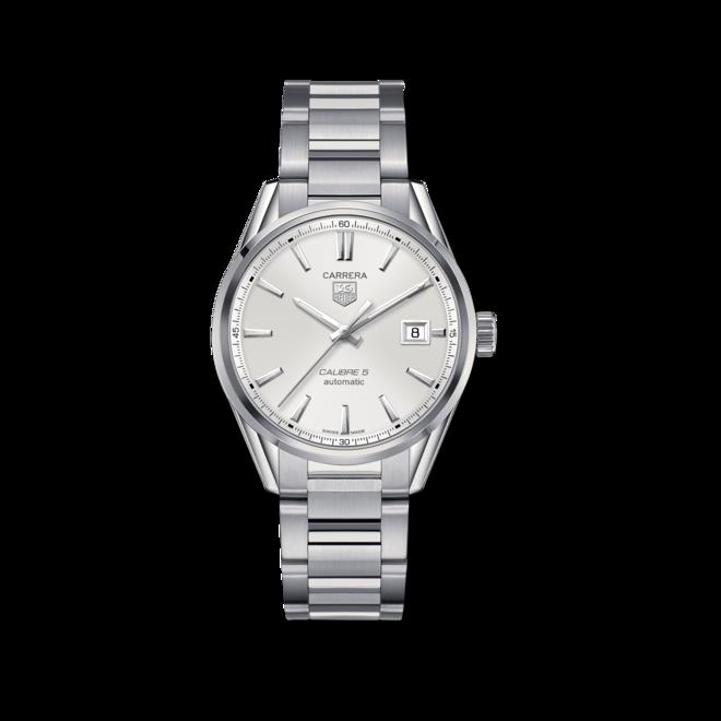Armbanduhr TAG Heuer Carrera Automatic 39mm mit silberfarbenem Zifferblatt und Edelstahlarmband bei Brogle
