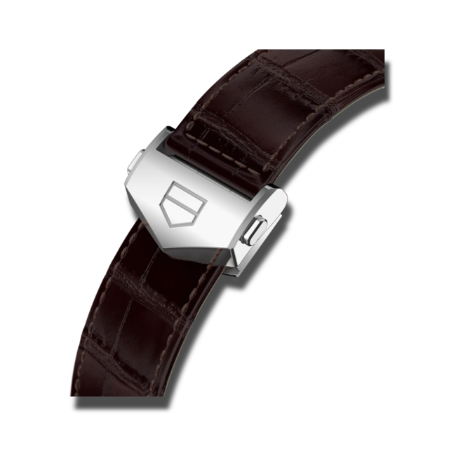 Herrenuhr TAG Heuer Carrera Automatic Chronograph 42mm mit grauem Zifferblatt und Alligatorenleder-Armband bei Brogle