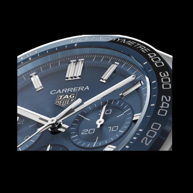 Herrenuhr TAG Heuer Carrera Automatic Chronograph 44mm mit blauem Zifferblatt und Edelstahlarmband bei Brogle