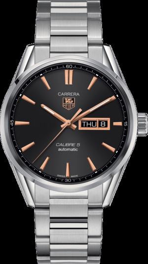 Herrenuhr TAG Heuer Carrera Automatic Day-Date 41mm mit schwarzem Zifferblatt und Edelstahlarmband
