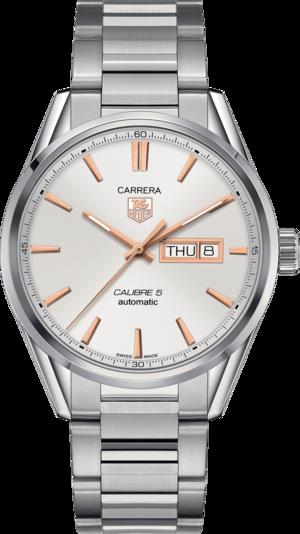 Herrenuhr TAG Heuer Carrera Automatic Day-Date 41mm mit silberfarbenem Zifferblatt und Edelstahlarmband