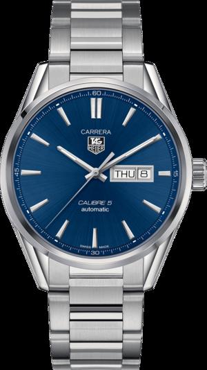 Herrenuhr TAG Heuer Carrera Automatic Day-Date 41mm mit blauem Zifferblatt und Edelstahlarmband