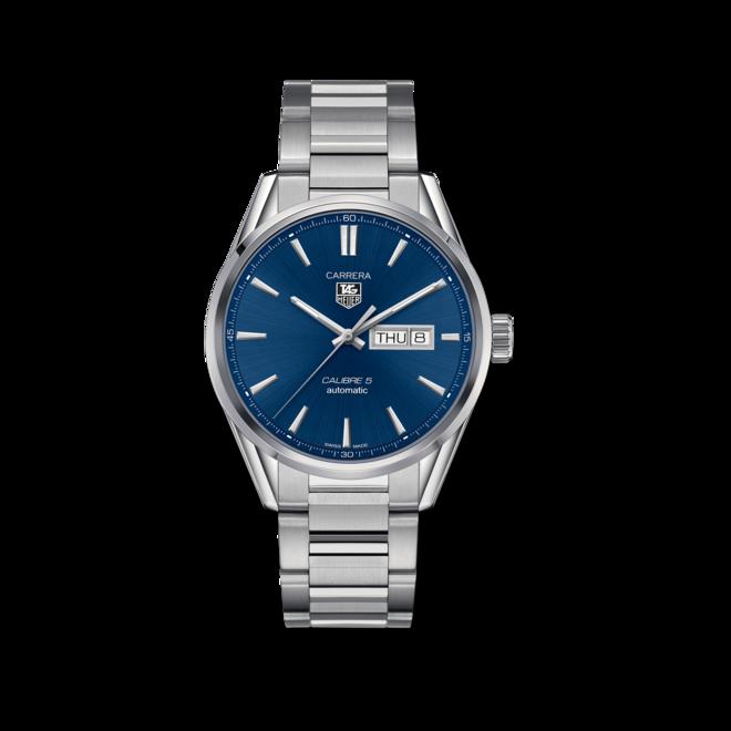 Herrenuhr TAG Heuer Carrera Automatic Day-Date 41mm mit blauem Zifferblatt und Edelstahlarmband bei Brogle