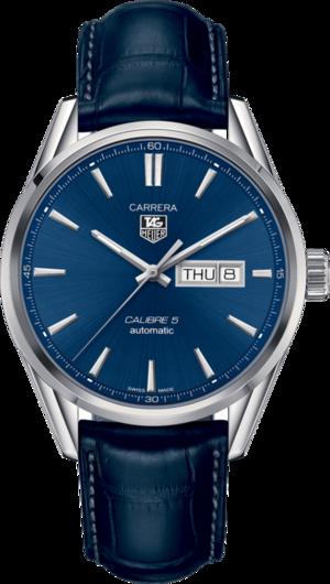 Herrenuhr TAG Heuer Carrera Automatic Day-Date 41mm mit blauem Zifferblatt und Alligatorenleder-Armband