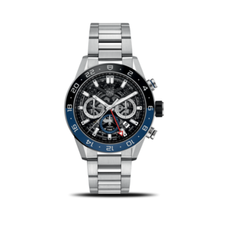 TAG Heuer Herrenuhr Carrera Heuer 02 GMT 45mm CBG2A1Z.BA0658