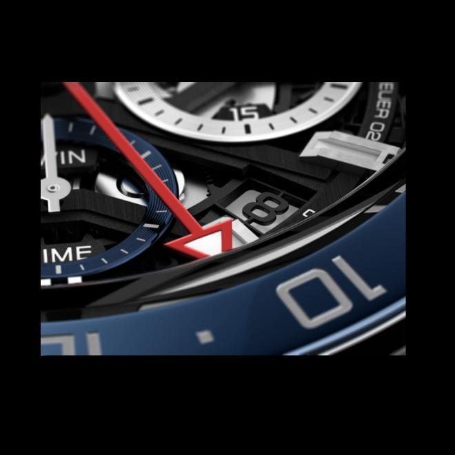 Herrenuhr TAG Heuer Carrera Heuer 02 GMT 45mm mit schwarzem Zifferblatt und Edelstahlarmband bei Brogle