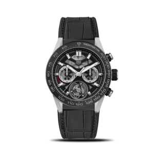TAG Heuer Herrenuhr Carrera Heuer 02 Tourbillon Chronograph 45mm CAR5A8Y.FC6377