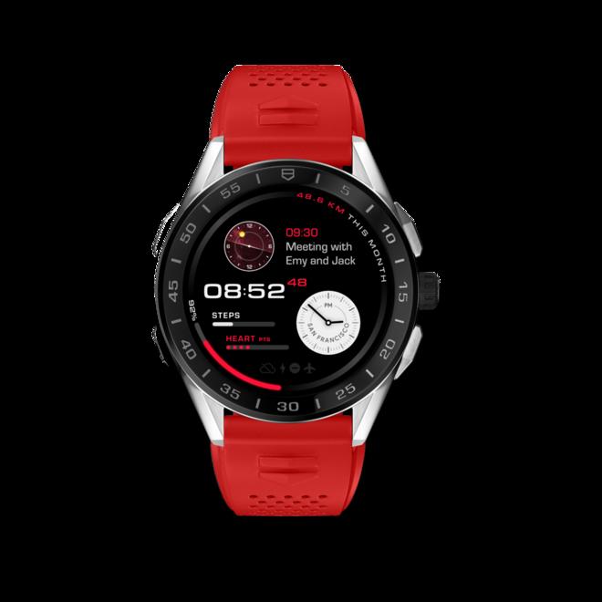 Smartwatch TAG Heuer Connected mit Kautschukarmband bei Brogle