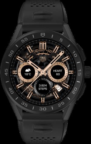 Smartwatch TAG Heuer Connected mit Kautschukarmband