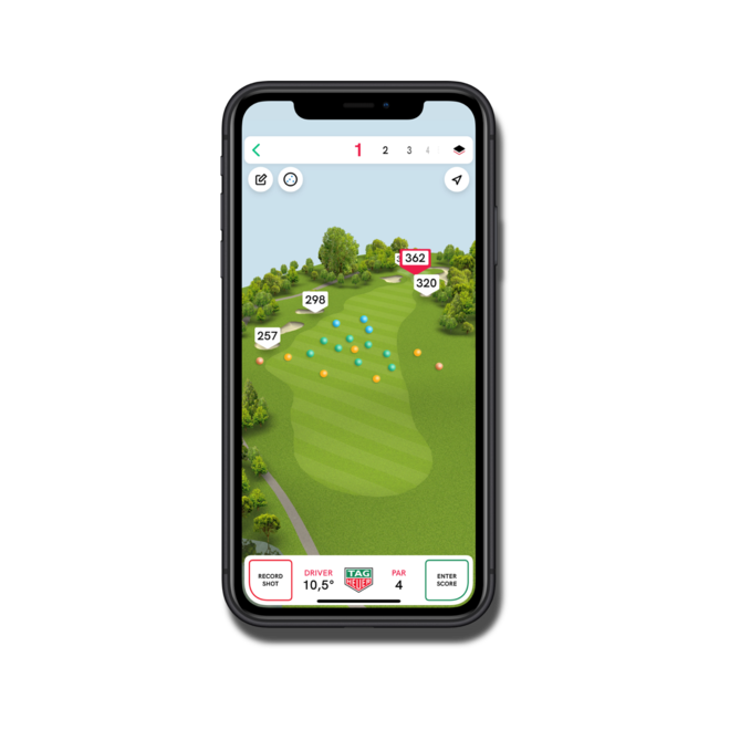 Smartwatch TAG Heuer Connected Golf Edition mit Kautschukarmband bei Brogle