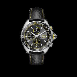 TAG Heuer Herrenuhr Formula 1 Automatic Chronograph 44mm, Senna Spezial Edition CAZ201B.FC6487