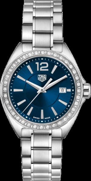 Damenuhr TAG Heuer Formula 1 Lady Quartz 32mm mit Diamanten, blauem Zifferblatt und Edelstahlarmband