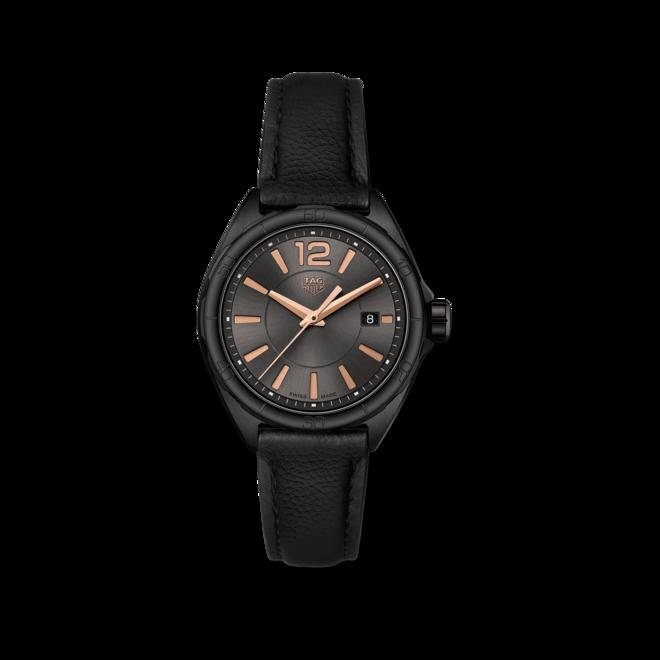 Damenuhr TAG Heuer Formula 1 Quartz 32mm mit schwarzem Zifferblatt und Kalbsleder-Armband bei Brogle