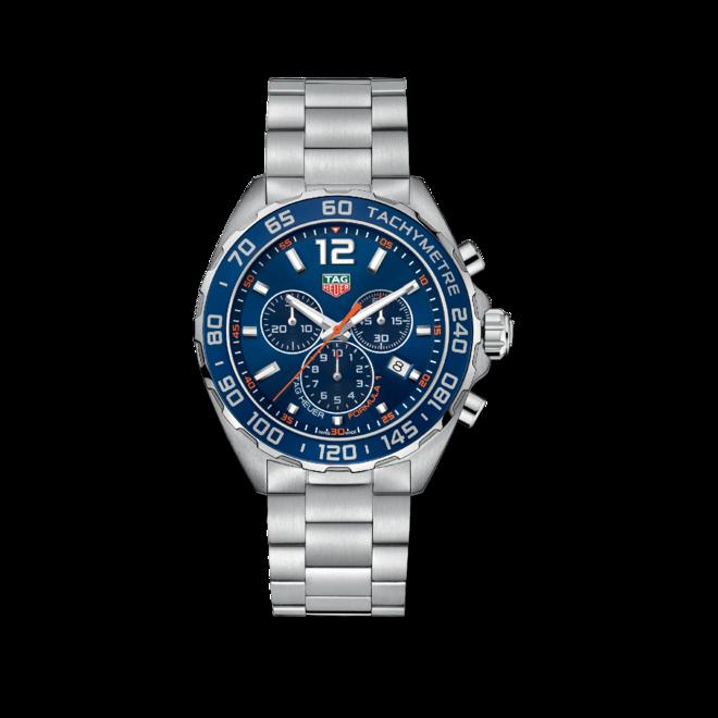 Herrenuhr TAG Heuer Formula 1 Quartz Chronograph 43mm mit blauem Zifferblatt und Edelstahlarmband bei Brogle