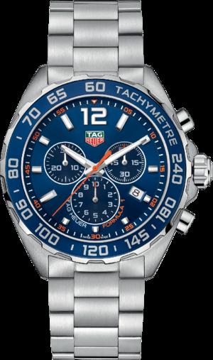 Herrenuhr TAG Heuer Formula 1 Quartz Chronograph 43mm mit blauem Zifferblatt und Edelstahlarmband