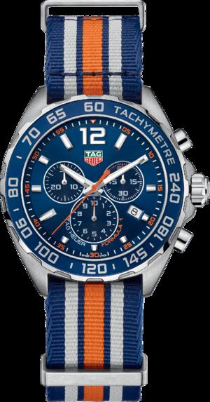 Herrenuhr TAG Heuer Formula 1 Quartz Chronograph 43mm mit blauem Zifferblatt und Textilarmband