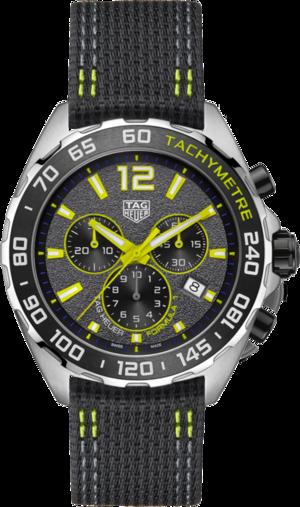 Herrenuhr TAG Heuer Formula 1 Quartz Chronograph 43mm mit grauem Zifferblatt und Nylonarmband