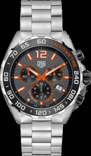 Herrenuhr TAG Heuer Formula 1 Quartz Chronograph 43mm mit grauem Zifferblatt und Edelstahlarmband