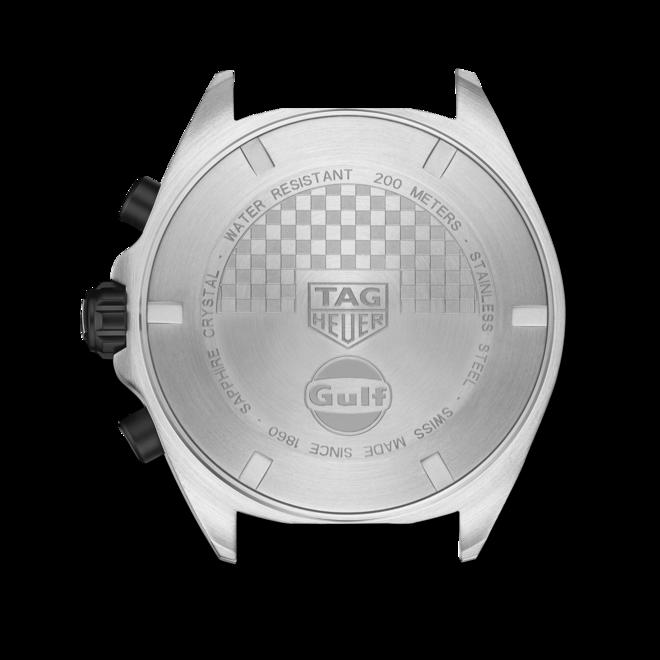 Herrenuhr TAG Heuer Formula 1 Quartz Chronograph Gulf mit mehrfarbigem Zifferblatt und Kalbsleder-Armband bei Brogle