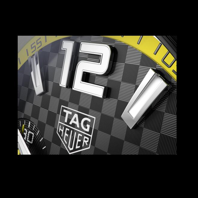 Herrenuhr TAG Heuer Formula 1 Quarz Chronograph 43mm mit schwarzem Zifferblatt und Edelstahlarmband bei Brogle