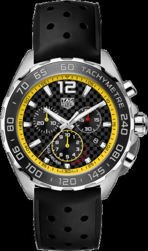 Herrenuhr TAG Heuer Formula 1 Quarz Chronograph 43mm mit schwarzem Zifferblatt und Kautschukarmband
