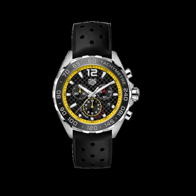 Herrenuhr TAG Heuer Formula 1 Quarz Chronograph 43mm mit schwarzem Zifferblatt und Kautschukarmband bei Brogle