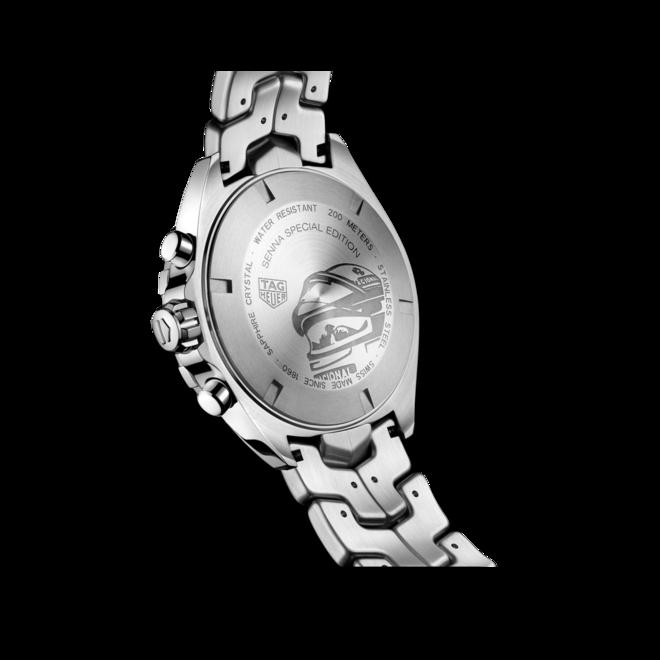 Herrenuhr TAG Heuer Formula 1 Quarz Chronograph 43mm, Senna Spezial Edition mit anthrazitfarbenem Zifferblatt und Edelstahlarmband bei Brogle