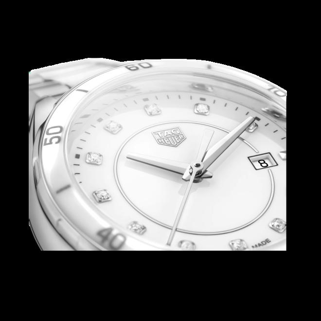 Damenuhr TAG Heuer TAG Heuer Formula 1 Quarz mit Diamanten, weißem Zifferblatt und Edelstahlarmband bei Brogle