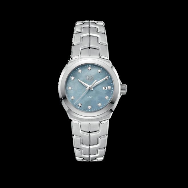Damenuhr TAG Heuer Link Quartz 32mm mit Diamanten, grauem Zifferblatt und Edelstahlarmband bei Brogle