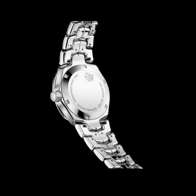 Damenuhr TAG Heuer Link Quartz 32mm mit Diamanten, schwarzem Zifferblatt und Edelstahlarmband bei Brogle