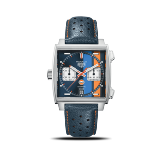 TAG Heuer Herrenuhr Monaco Calibre 11 Special Edition Gulf Chronograph CAW211R.FC6401