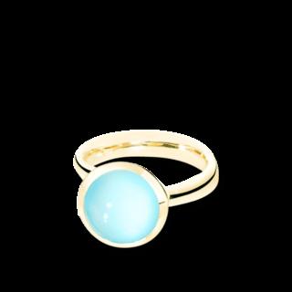 Tamara Comolli Ring Bouton Aqua-Chalcedon L R-BOU-L-CHAQ-YG