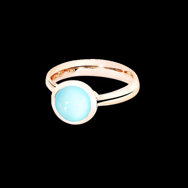 Ring Tamara Comolli Bouton Aqua-Chalcedon S aus 750 Roségold mit 1 Chalcedon