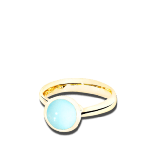 Tamara Comolli Ring Bouton Aqua-Chalcedon S R-BOU-S-CHAQ-YG