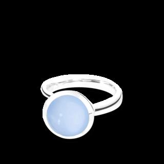 Tamara Comolli Ring Bouton Blauer Chalcedon L R-BOU-L-CHBL-WG